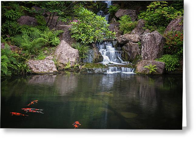Portland Japanese Gardens Greeting Card