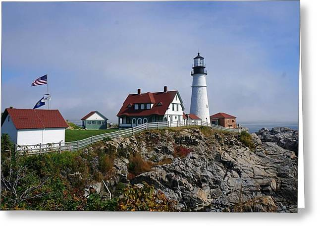 Portland Lighthouse  Greeting Card by Melissa C