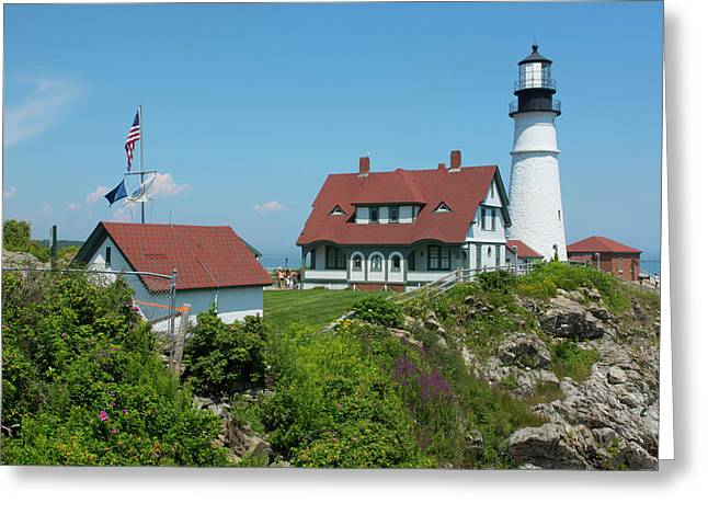 Portland, Maine, Lighthouse Famous Greeting Card by Bill Bachmann