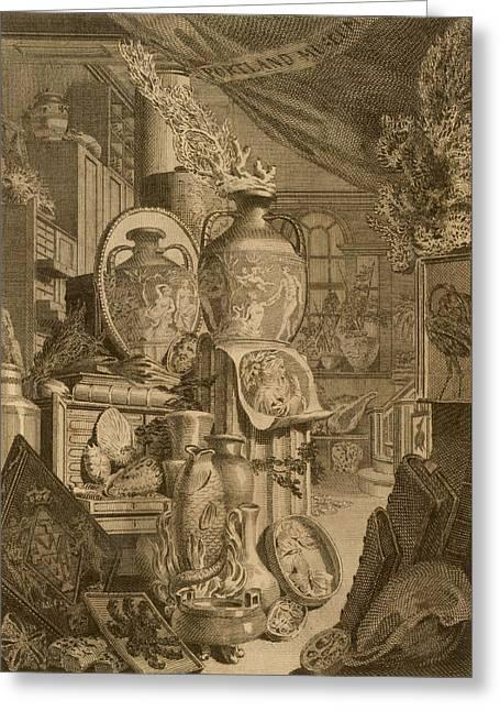 Portland Museum, 1786 Greeting Card