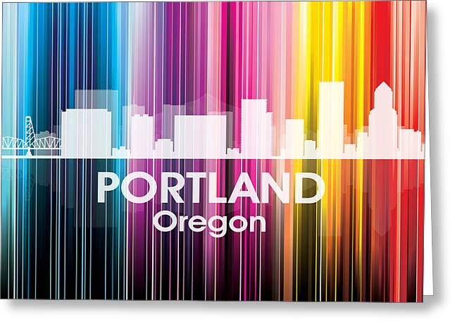 Portland Or 2 Greeting Card by Angelina Vick