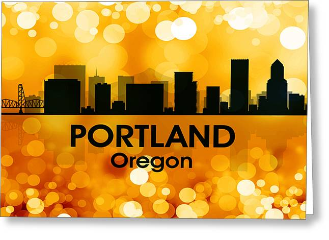 Portland Or 3 Greeting Card by Angelina Vick