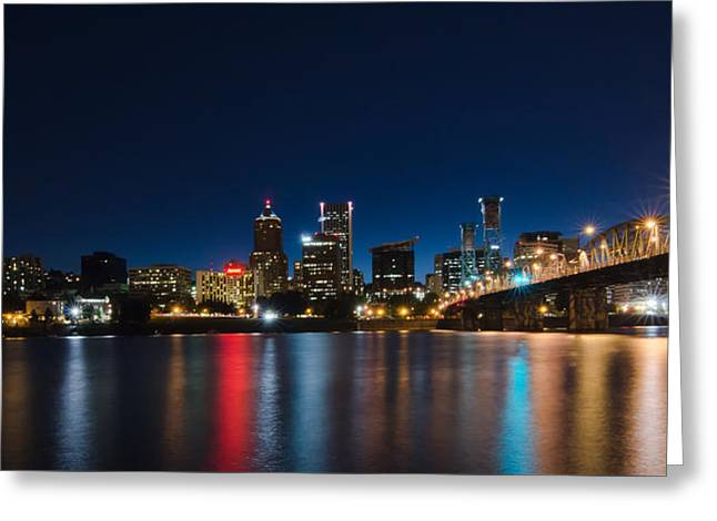 Portland Oregon Nightscape Greeting Card