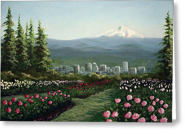 Portland Rose Garden Greeting Card