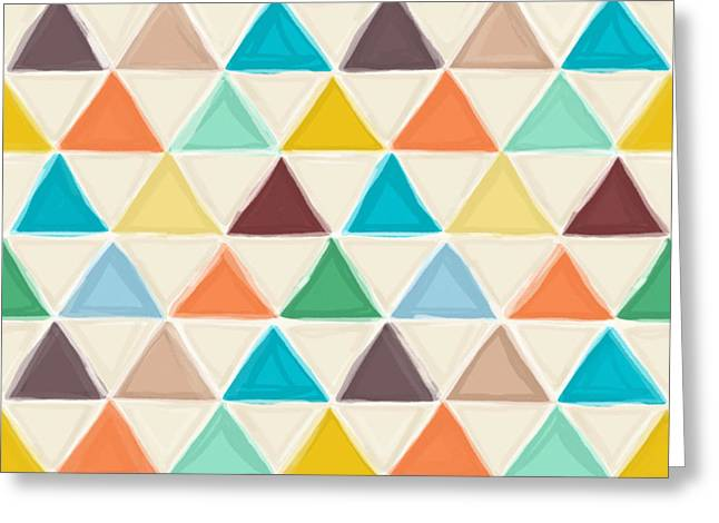 Portland Triangles Greeting Card by Sharon Turner
