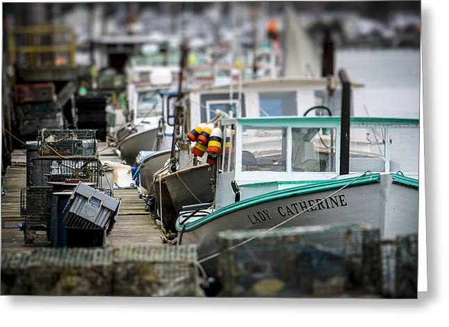 Portland Working Waterfront Greeting Card by Dave Cleaveland