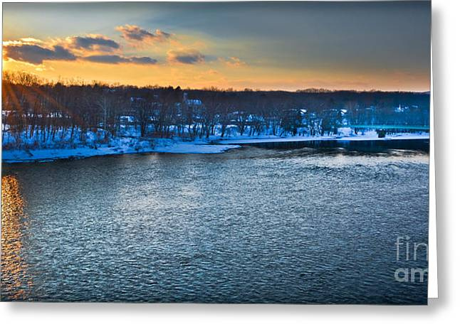 Portland's Delaware River  Greeting Card