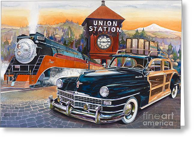 Portland's Union Station Greeting Card by Mike Hill
