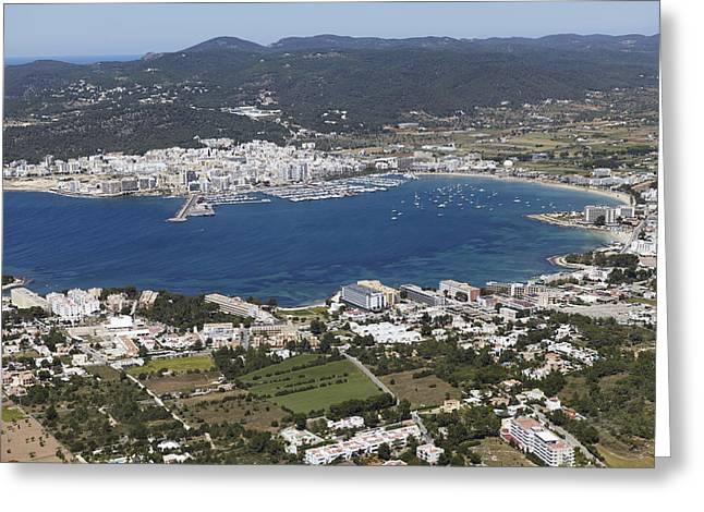 Portmany Bay, Sant Antoni De Portmany Greeting Card by Xavier Durán
