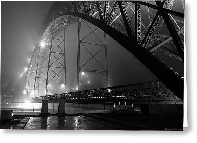 Porto @ Night Fog Greeting Card