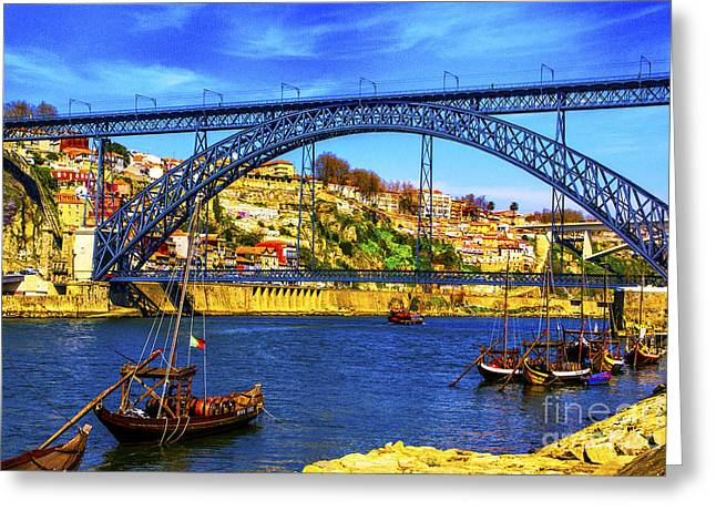 Porto Barges Greeting Card