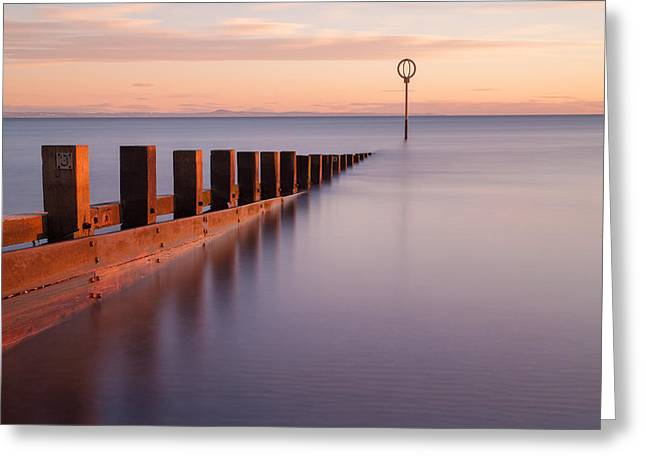 Portobello Beach Groynes Greeting Card