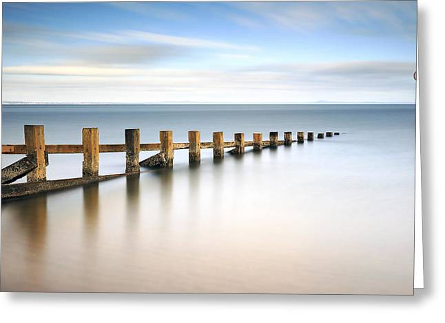 Portobello Groynes Greeting Card