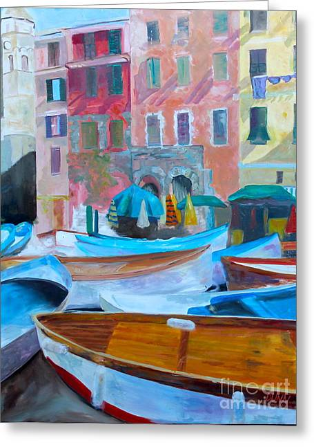 Portofino Greeting Card by Barbara Lynn Dunn