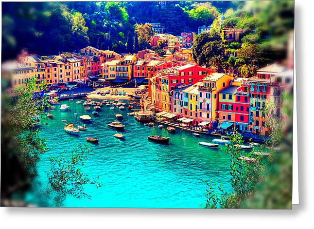 Portofino Dream Greeting Card by Michelle Dallocchio