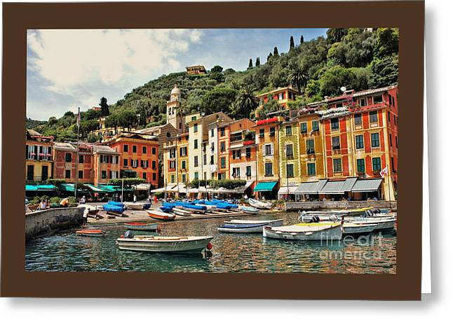 Portofino Harbor 2 Greeting Card