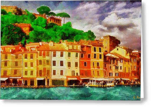Portofino I Greeting Card by George Rossidis