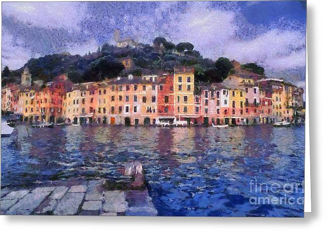 Portofino In Italy Greeting Card by George Atsametakis