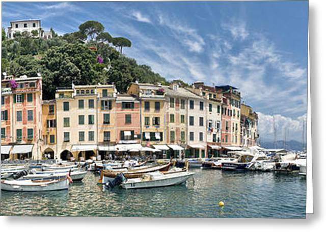Portofino Italy Greeting Card by Mesha Zelkovich
