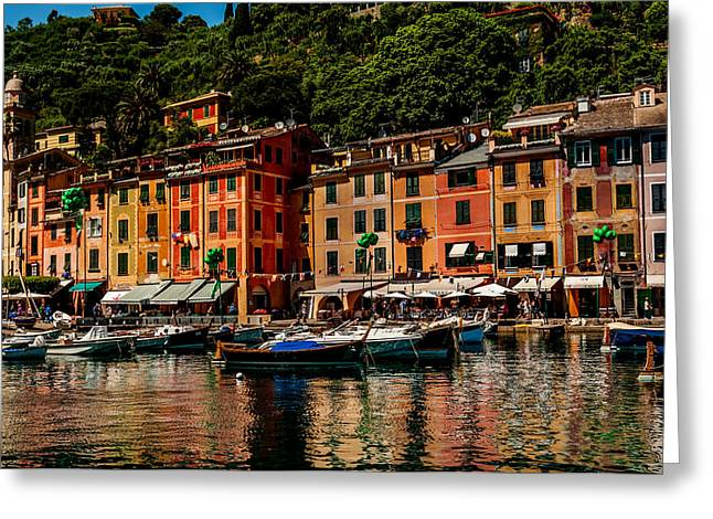 Portofino Italy Greeting Card by Xavier Cardell