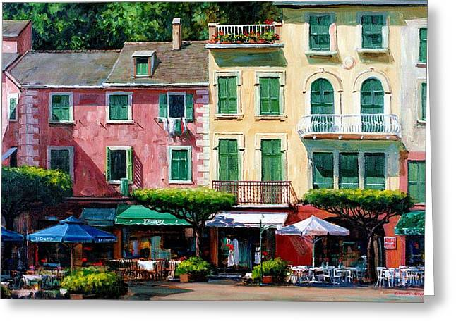 Portofino Greeting Card by Michael Swanson