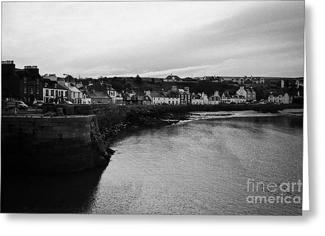 Portpatrick Village And Breakwater Scotland Uk Greeting Card