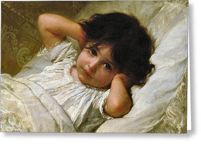 Portrait De Marie-louise  Greeting Card by Emile Munier