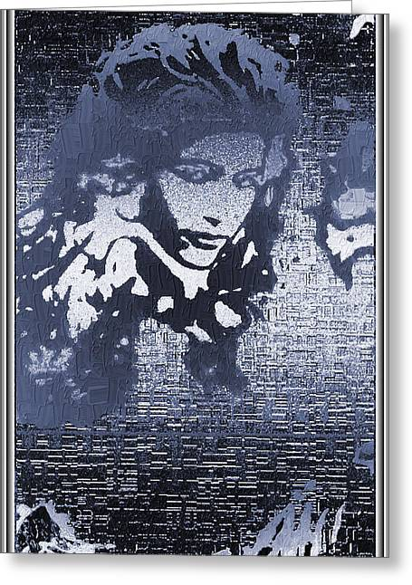 Portrait In Ice Greeting Card