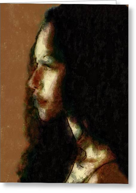 Portrait In Sepia Tones  Greeting Card by Jeff  Gettis