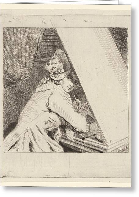 Portrait Marie-lambertine Coclers, Louis Bernard Coclers Greeting Card by Louis Bernard Coclers