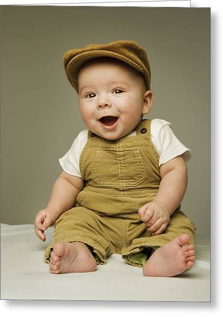 Portrait Of A Baby Boy Greeting Card by Kelly Redinger