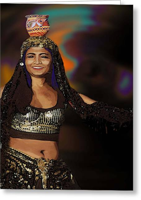 Portrait Of A Belly Dancer Greeting Card
