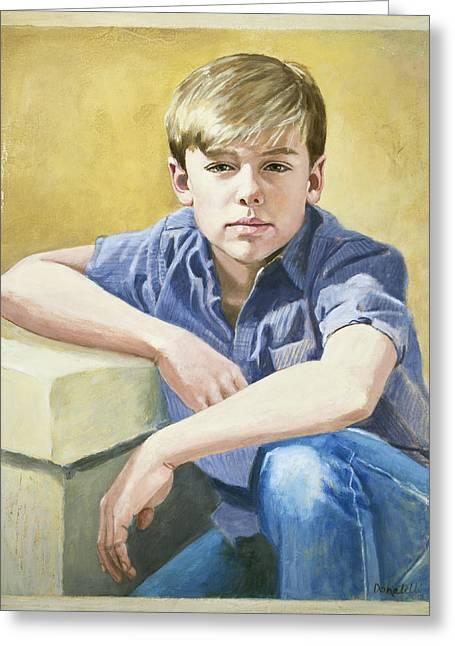 Portrait Of A Boy Greeting Card