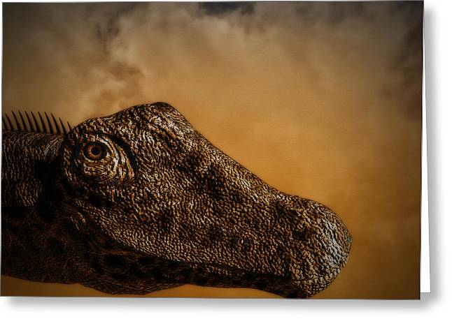 Portrait Of A Diplodocus Greeting Card by Ramon Martinez