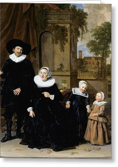 Portrait Of A Dutch Family Greeting Card