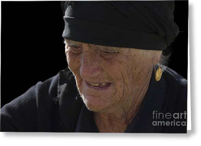 Portrait Of A Fishermans Wife Greeting Card by Heiko Koehrer-Wagner