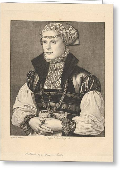 Portrait Of A German Lady Greeting Card