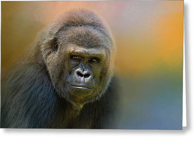 Portrait Of A Gorilla Greeting Card