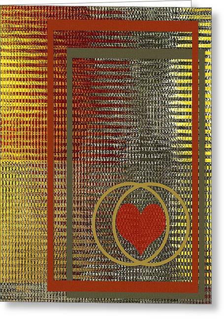 Portrait Of A Heart Greeting Card by Ben and Raisa Gertsberg