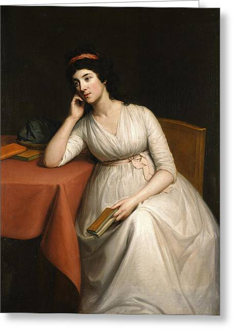 Portrait Of A Lady Greeting Card by Celestial Images