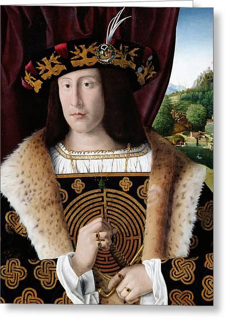 Portrait Of A Man Greeting Card by Bartolomeo Veneto
