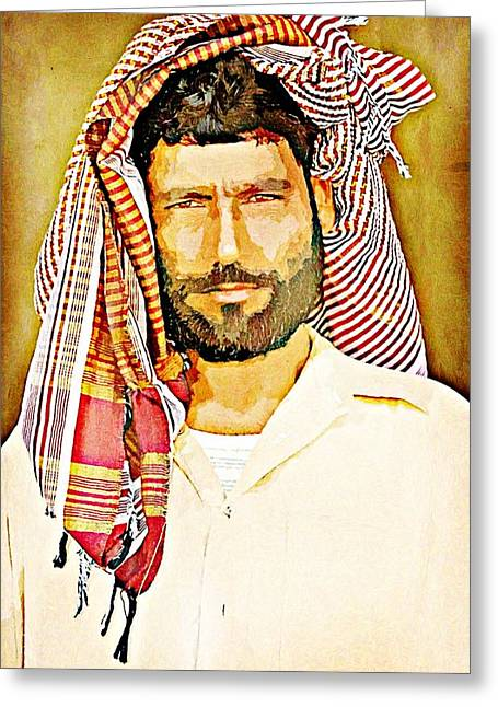 Portrait Of A Man Greeting Card by Peter Waters