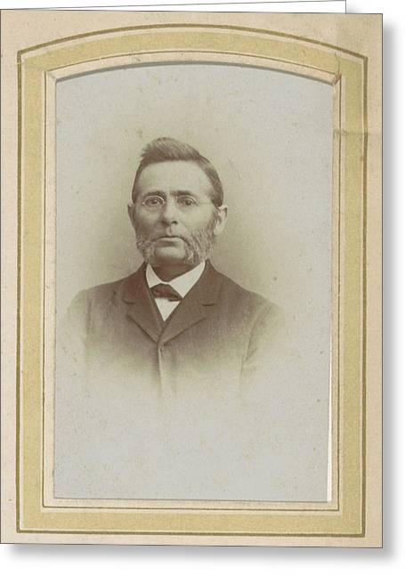 Portrait Of A Man With Glasses And Sideburns Greeting Card