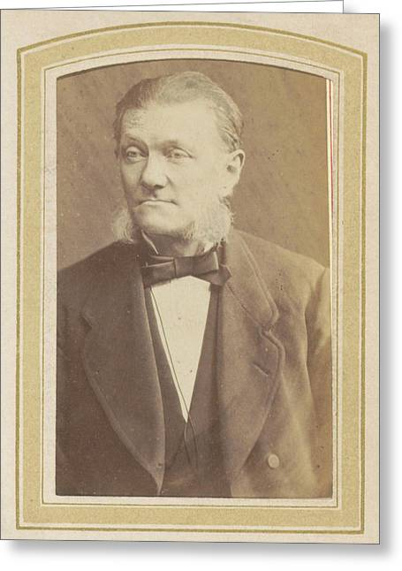 Portrait Of A Man With Sideburns, A Bow Tie And A Jacket Greeting Card by Artokoloro