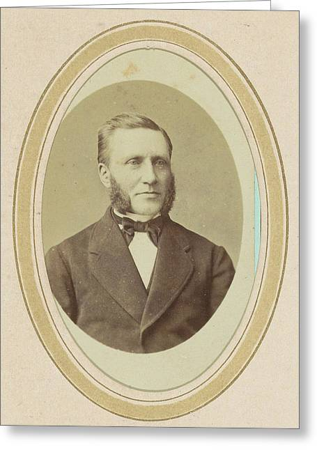 Portrait Of A Man With Sideburns, J.c. Reesinck Greeting Card