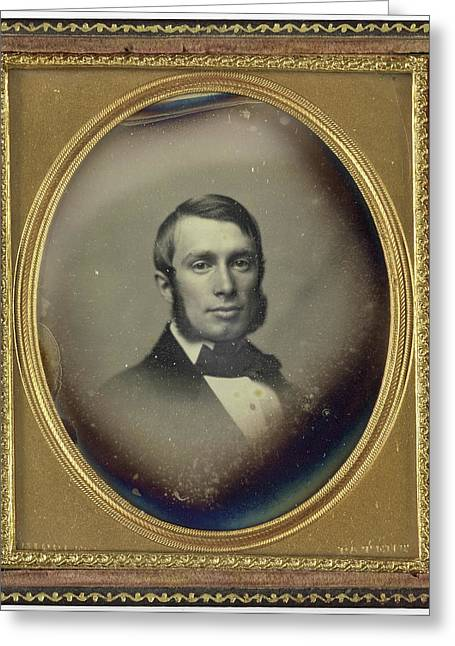 Portrait Of A Man With Sideburns, John Adams Whipple Greeting Card