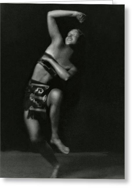 Portrait Of A Marion Morgan Dancer Greeting Card by Arnold Genthe