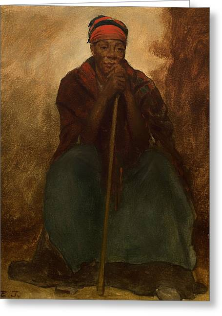 Portrait Of A Negress Greeting Card by Mountain Dreams