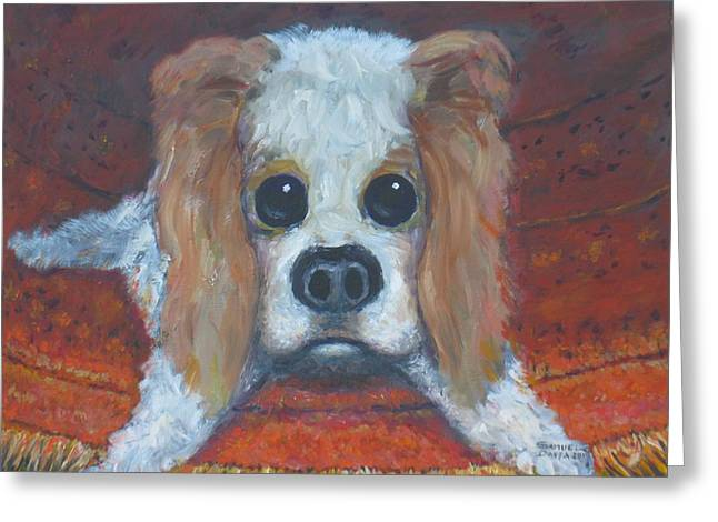 Portrait Of A Puppy Greeting Card