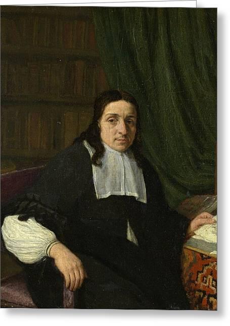 Portrait Of A Scholar Greeting Card by Adriaen van Ostade